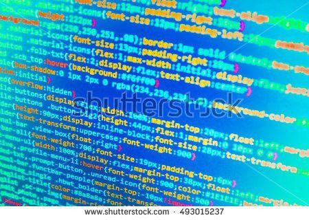 Website Programming Code Developer Working On Stock Photo ...