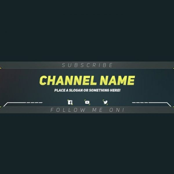Premium Youtube Banner Template – Photoshop Template – Youtube ...