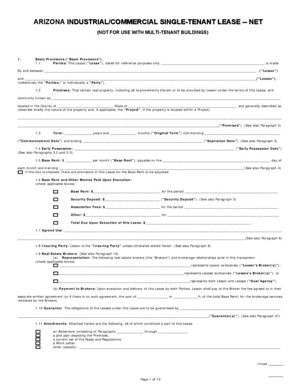Arizona Rental Lease Agreement Templates | LegalForms.org