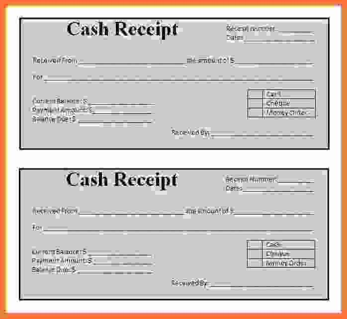 payment sales receipt template