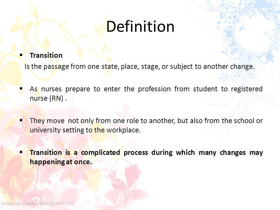 Transition from student to Professional Nurse - ppt download