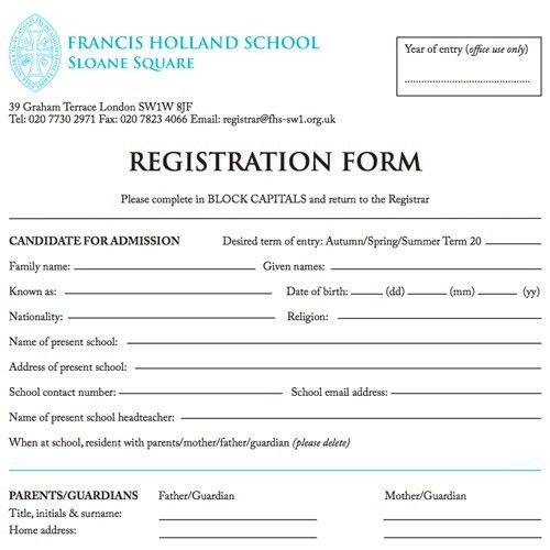 Admissions | Francis Holland School