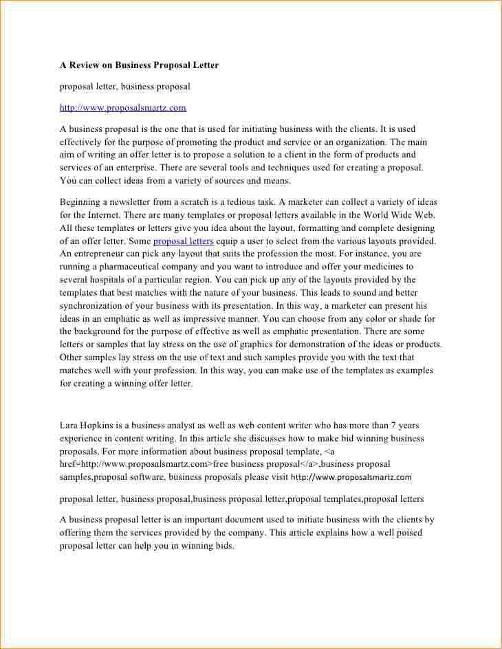 Business proposal letter - Business Proposal Templated - Business ...