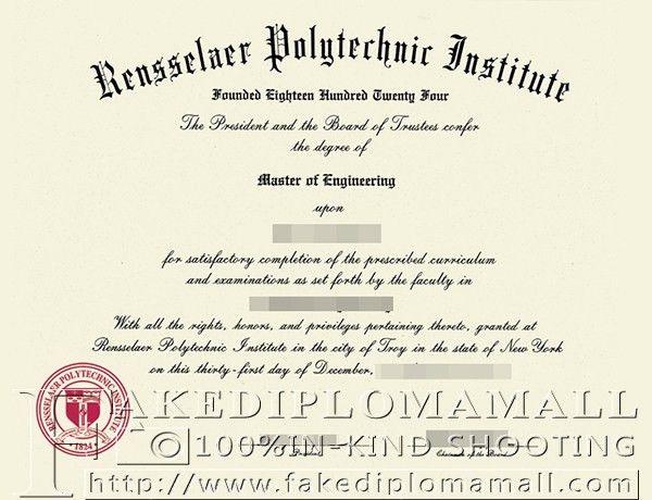 Rensselaer Polytechnic Institute master degree sample_Buy degree ...