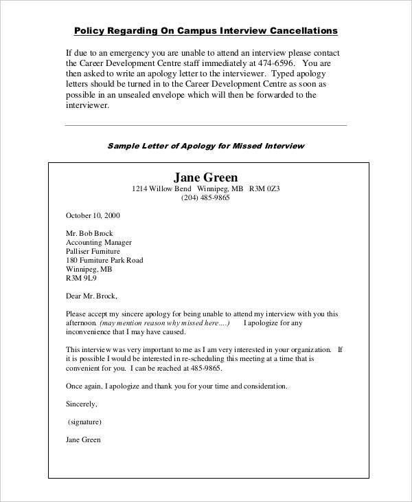 Letters Of Apology - 8+ Free Word, PDF Documents Download | Free ...