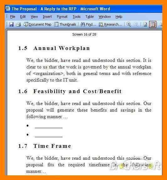 Simple Rfp Template. rfp template 26 whether construction rfp ...