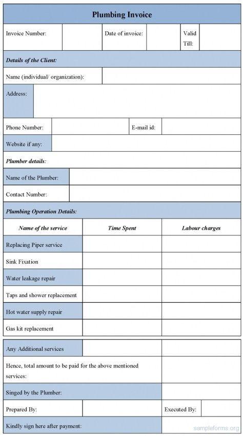 Download Plumbing Invoice Template | rabitah.net