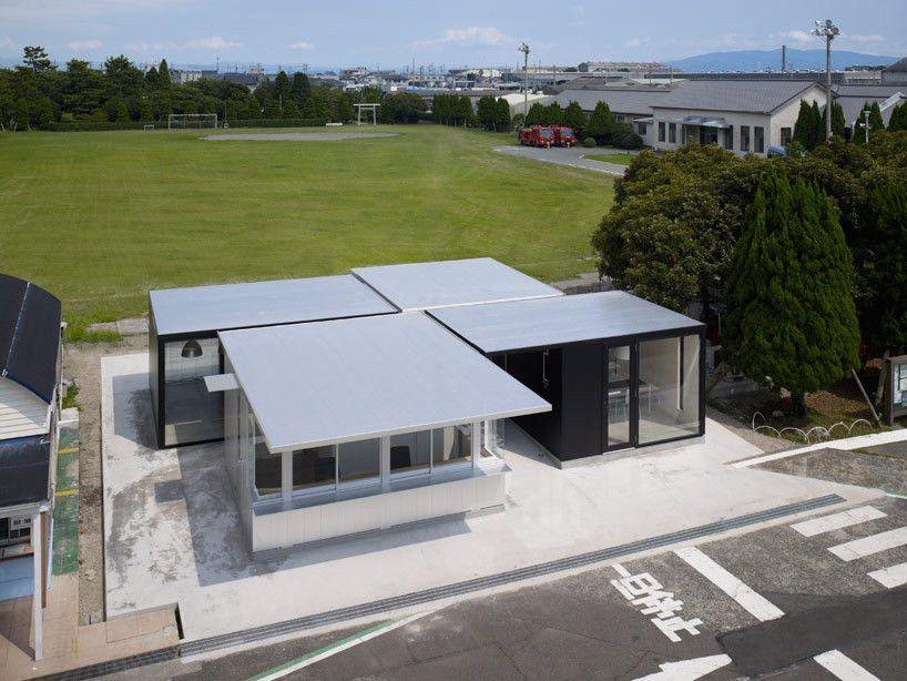 zai shirakawa + hiroshi tomikawa: kanbara aluminum gate house in ...