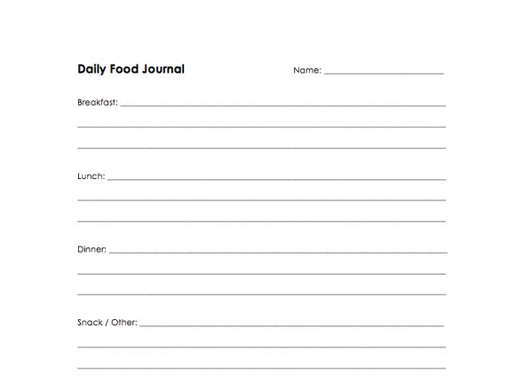 Best Photos of 3-Day Food Log Template - 3-Day Food Log, Free ...