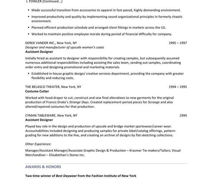 Wondrous Ideas Fashion Designer Resume 5 Fashion Designer - Resume ...