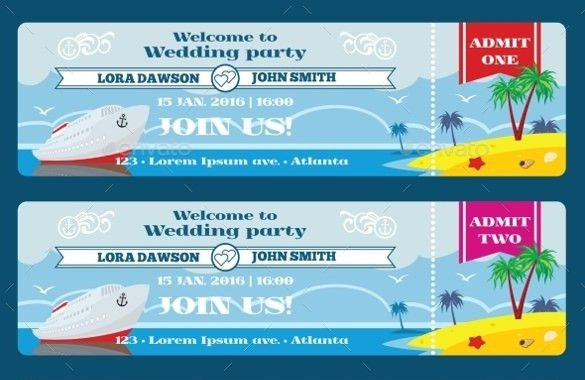 27+ Ticket Invitation Templates – Free Sample, Example, Format ...