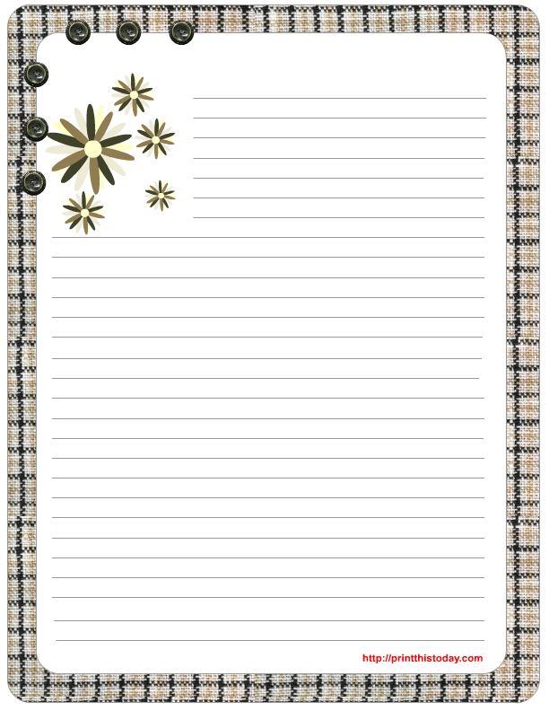 free printable stationery paper | ... mom so she can use it as ...