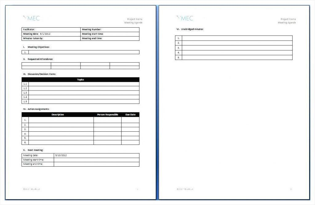 Microsoft Office Meeting Agenda Template | Samples.csat.co