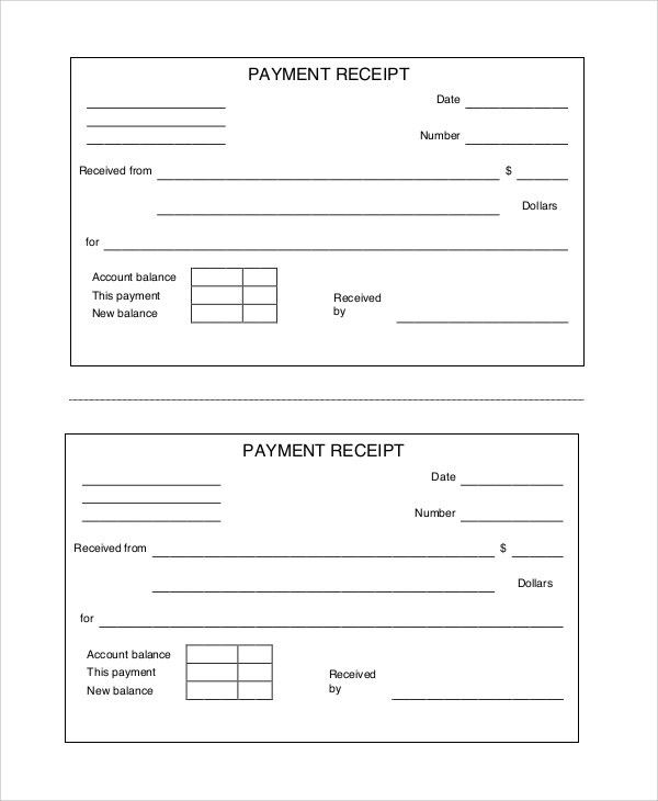 Sample Payment Receipt - 7+ Documents in PDF