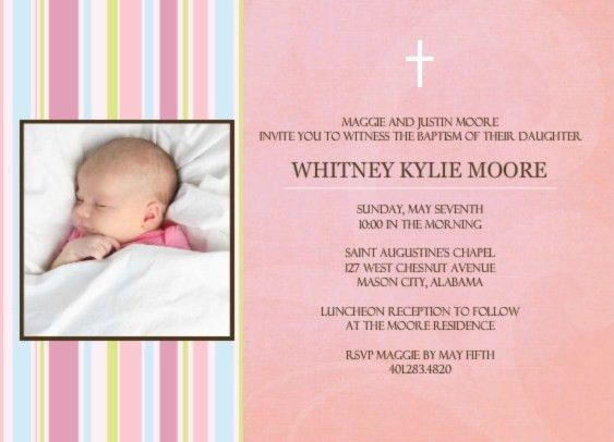 Baptism Invite Wording - Find the Wording you're Looking for