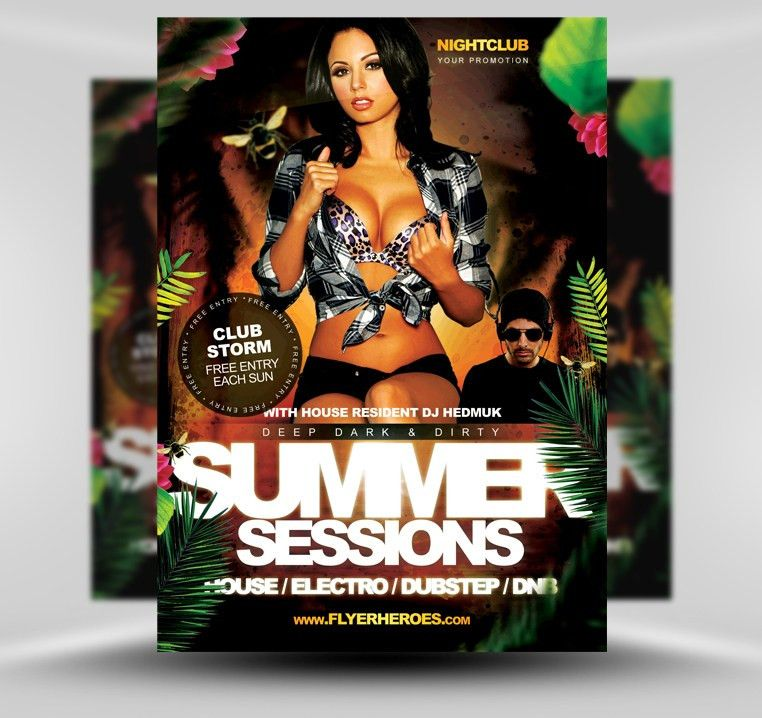 Summer Sessions Club Flyer PSD Template by flyertemplates on ...