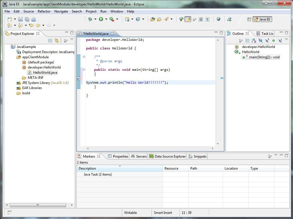 Eclipse Hello World Example,Hello World example in eclipse,Eclipse ...