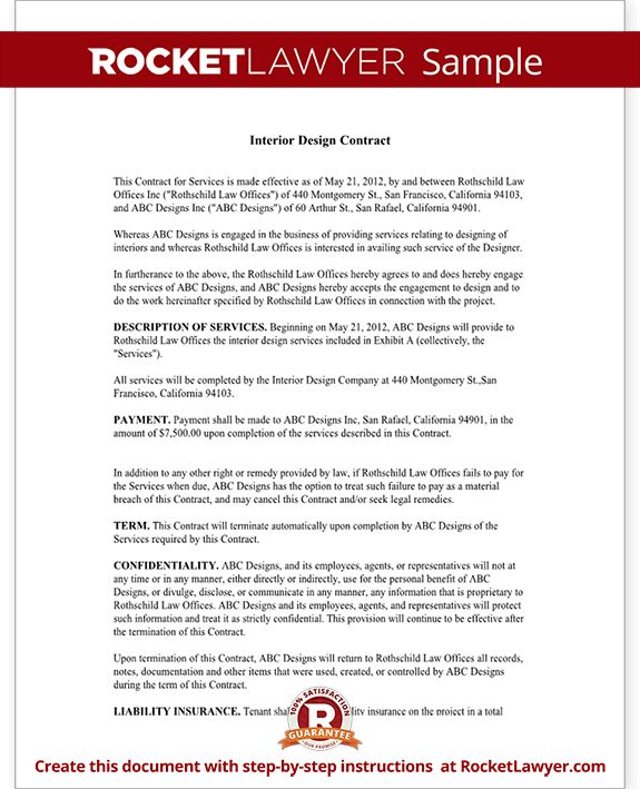 Interior Design Contract Agreement Template (with Sample)