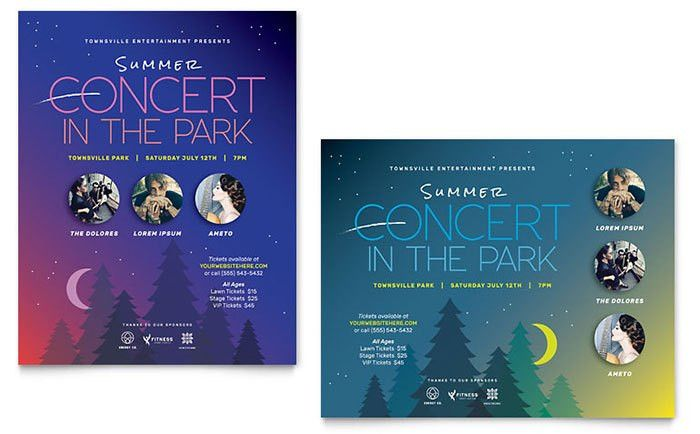 Summer Concert Poster Template Design