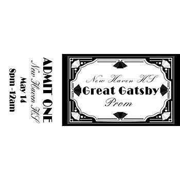 Our Great Gatsby Personalized Tickets features a very prominate ...