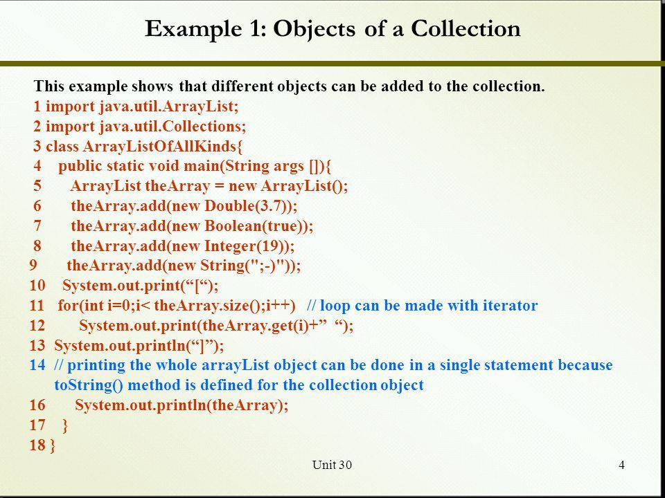 Unit 301 Java Collections Framework: Classes I JCF Class Hierarchy ...