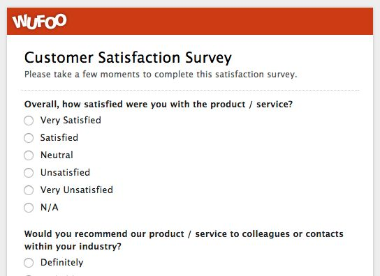 Wufoo Blog · Top 5 Customer Feedback and Satisfaction Form ...