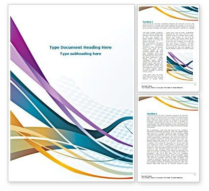 Color Ribbons Word Template 08342 | PoweredTemplate.com
