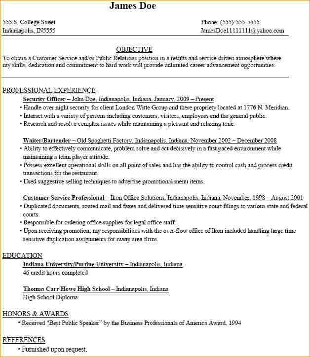 A sample resume for a college student - Business Proposal ...