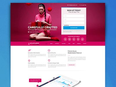 FREE PSD - Startuprr Landing Page Template Giveaway by Sam Rizzi ...