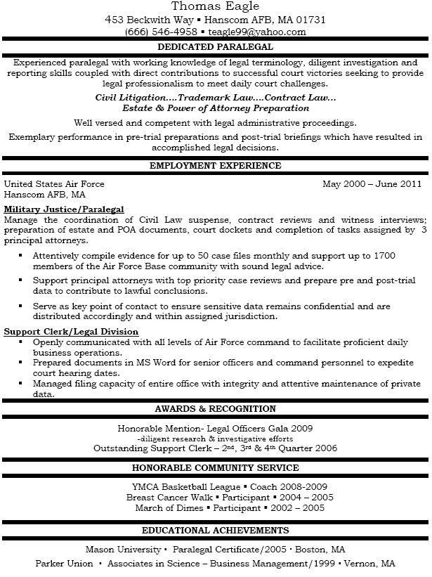 litigation paralegal resume template http www resumecareer ...