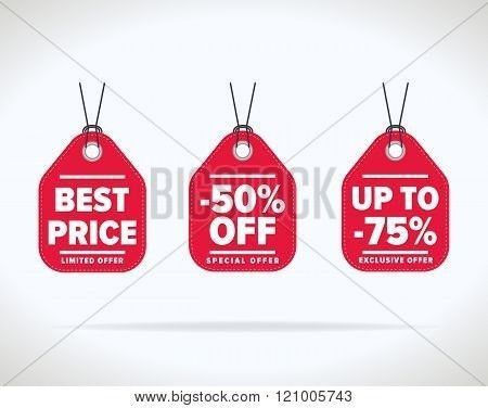 Sale tag vector isolated. Sale sticker with special advertisement ...
