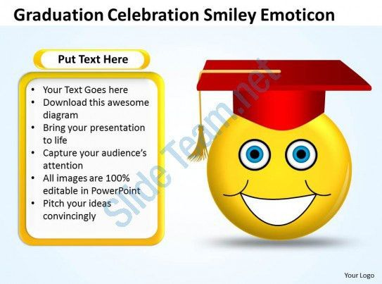 Business PowerPoint Templates graduation celebration smiley ...