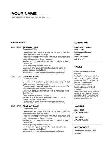 Conservative Professional Resume Design Word Template – Original ...