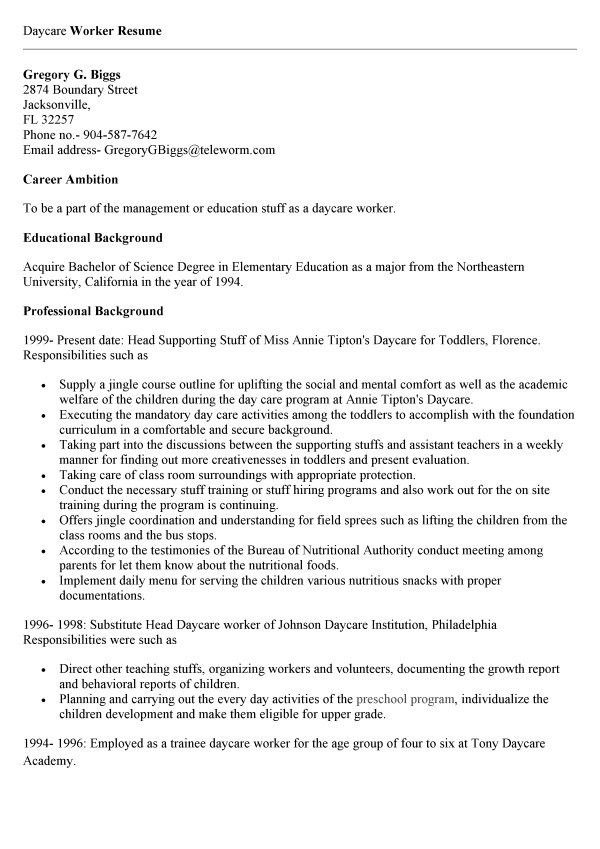 child care worker cover letter sample. how to write a reference ...