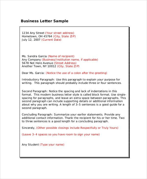 Professional Business Letter Format. Business Letters Business ...