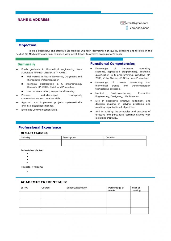 Impressive Resume Format 25 Latest Sample Cv For Freshers Best ...