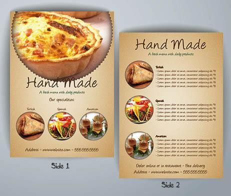 Pie Restaurant Flyer Template | FlyerForU.com
