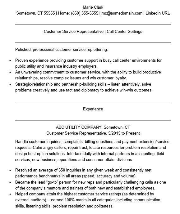 employer relations representative resume resident relations