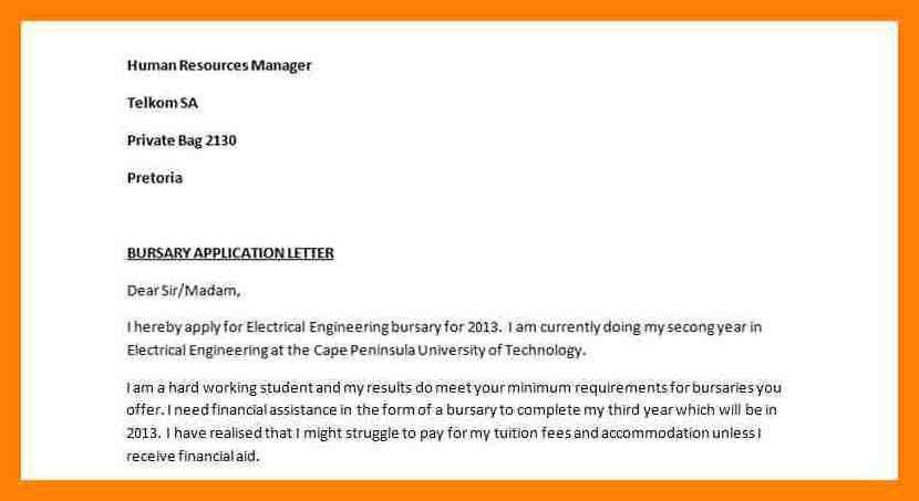 4+ motivation letter for bursary application example | pattern resume