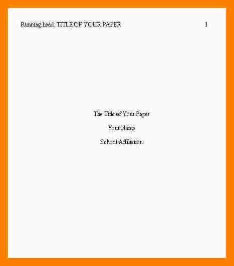 6+ apa title page example 2017 | sephora resume