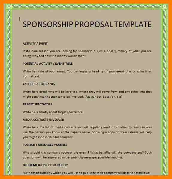 7+ free racing sponsorship proposal template | joblettered