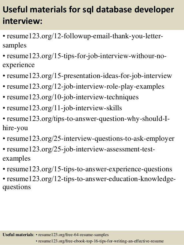 Innovation Ideas Database Developer Resume 5 Top 8 Sql Samples ...
