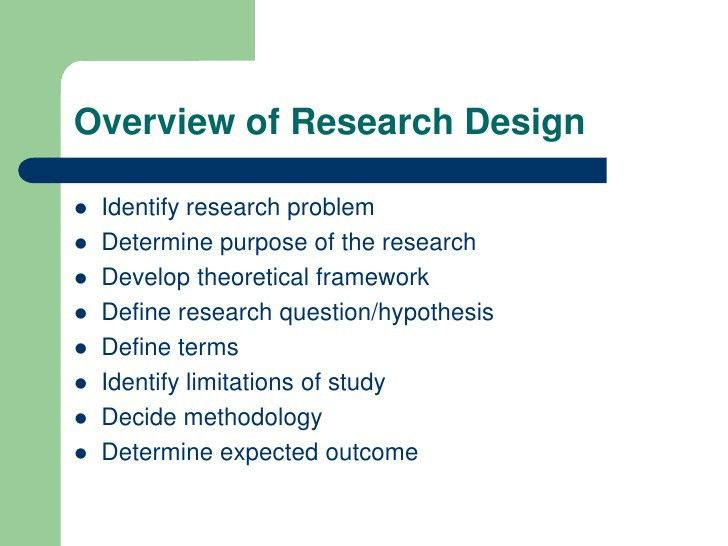 Research design proposal sample | Saidel Group