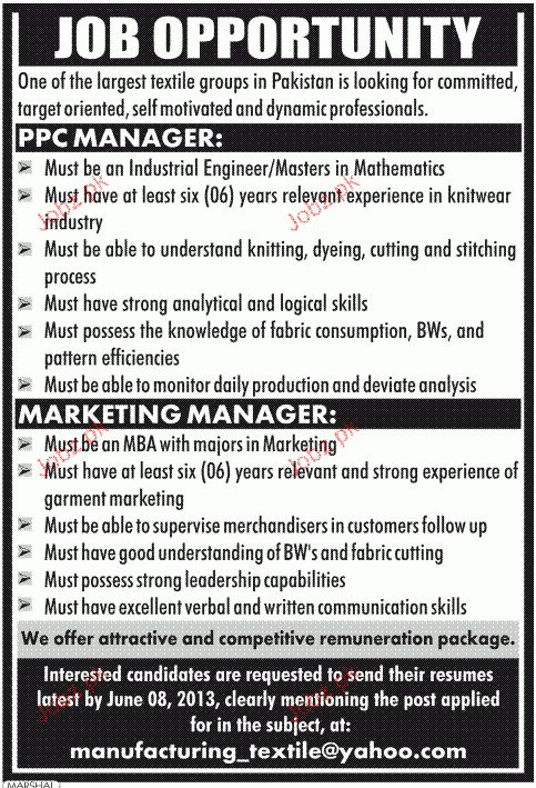 PPC Manager and Marketing Manager Job Opportunity 2017 Jobs ...