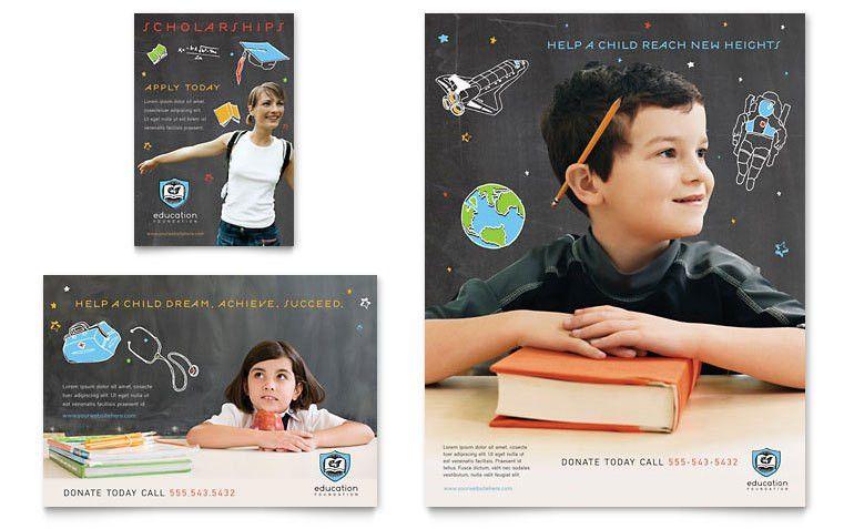 Education Foundation Flyer & Ad Template Design   Senior Project ...