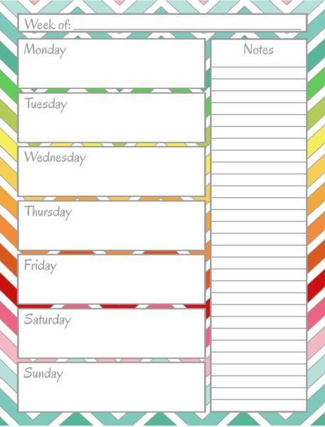 Weekly Calendar For Free | Blank Calendar Design 2017