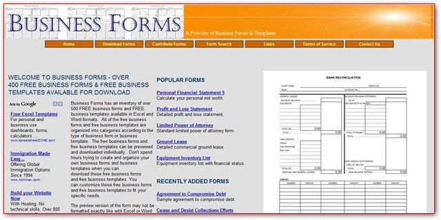 FreeBusinessFormsAndTemplates.com – Business Form And Templates