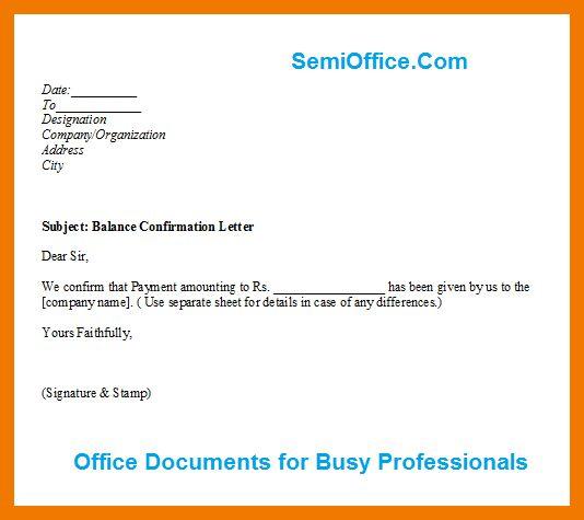 11+ bank confirmation letter format | mailroom clerk