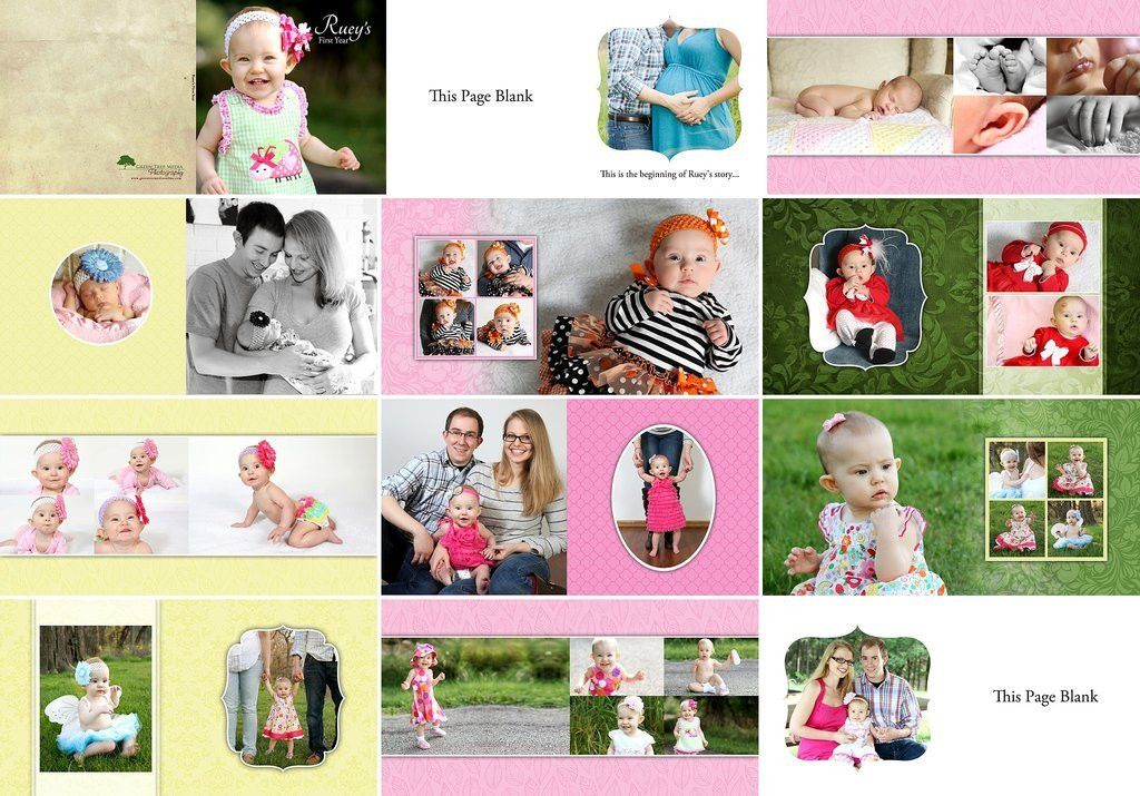 Album Template: Baby Girl's First Year – BoxDrops bySJP