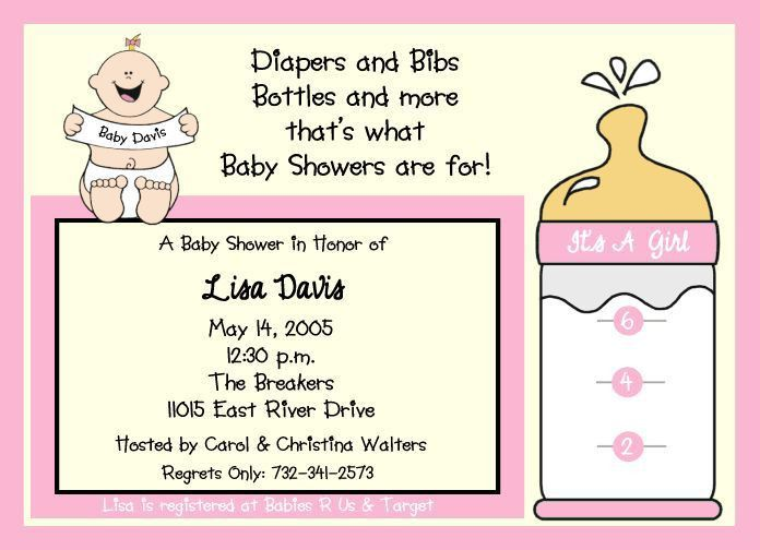 baby shower invitation wording for ladies only ...
